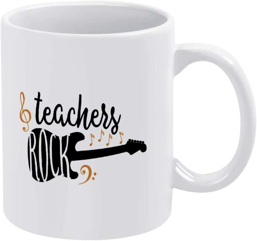 Funny Coffee Mug,Teachers Rock Funny Music Mug for Housewarming Office Bar birthday Custom Mug,11oz Mug Best Personalised Present to Your Friend Lover Family