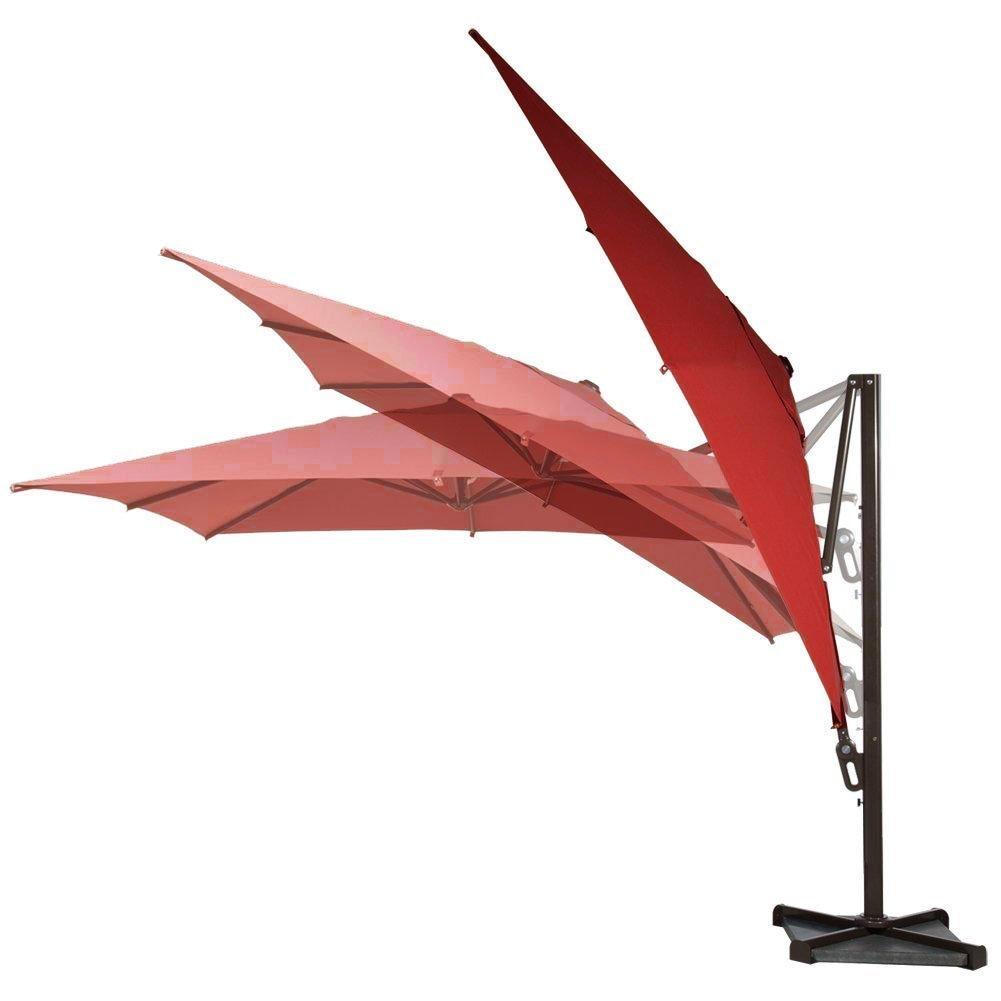 10ft offset cantilever umbrella w tilt cross base outdoor for Canopy umbrella