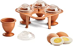 Copper Chef Eggs (Small)- Copper Chef Egg Cooker- No Peel Soft, Hard and Poached Eggs Without the Shell …