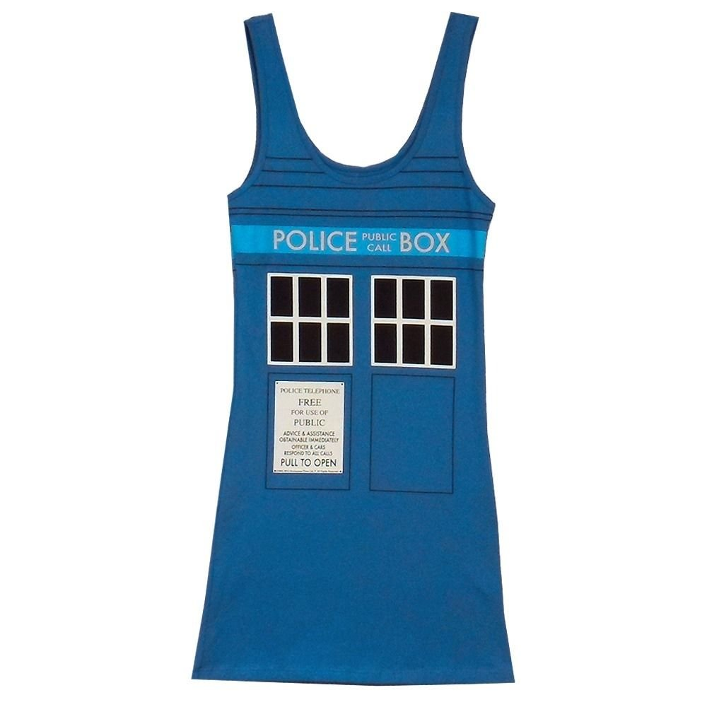 Doctor Who Tardis Womens Blue Tank Top | XXL Toy Zany A4390JBP1-2XL