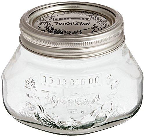 Leifheit 36103 2-Cup Preserve Jar, 1/2-Liter, Set of (Best Leifheit Glass Jars)