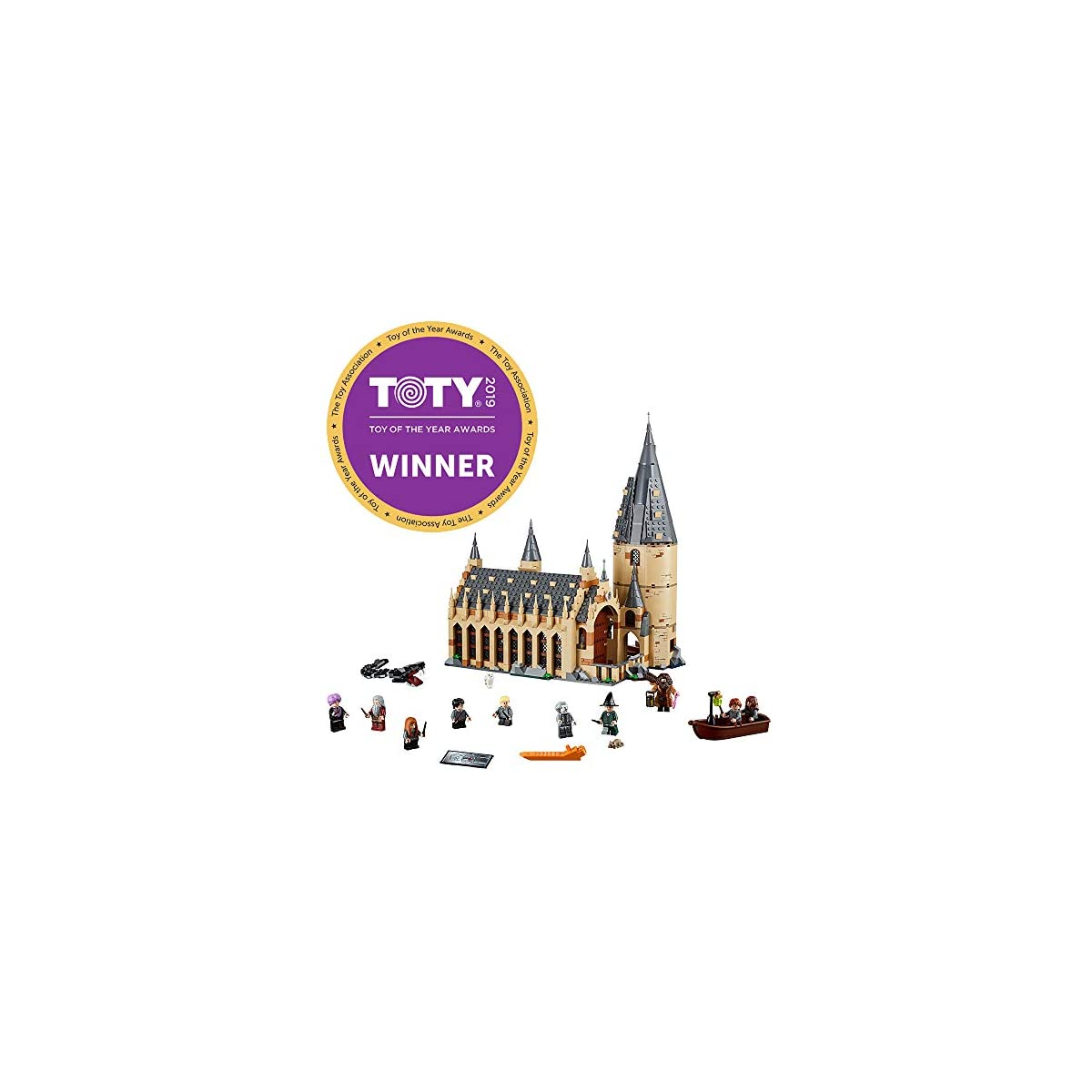 SaleProductsOffer - No.1 Best Online Store 51qIDZet3XL LEGO Harry Potter Hogwarts Great Hall 75954 Building Kit and Magic Castle Toy, Fantasy Creatures, Hermione Granger, Draco Malfoy and Hagrid (878 Piece)