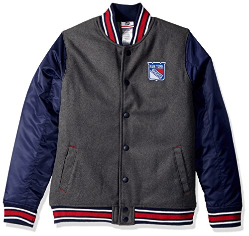 Twill Letterman Jacket - OuterStuff NHL New York Rangers Youth Boys