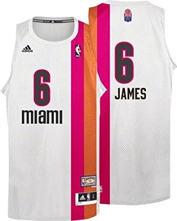 newest 4e939 95f3f Amazon.com : Miami Heat Floridians Adidas LeBron James ...