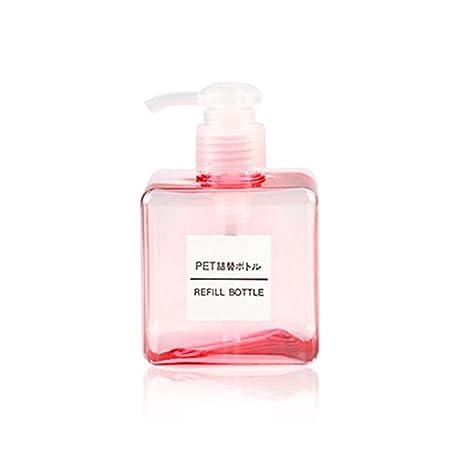 BESTOMZ 250ml 8.4oz Empty Square Pump Bottle Jar para aceites Dispensador de jabón líquido Lotion