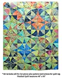 Benartex Wheel of Mystery Quilt Kit Precut Bali Batik Fabric & Pattern
