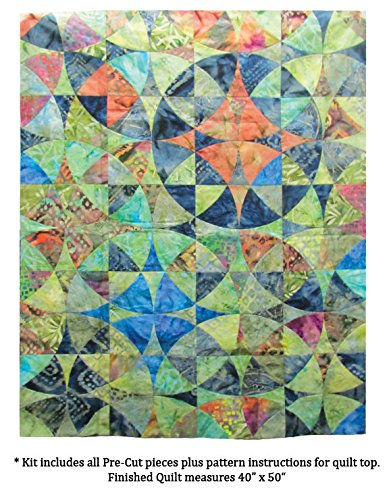 Benartex Wheel of Mystery Quilt Kit Precut Bali Batik Fabric & Pattern by Benartex