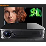 4K Video Projector,Deeirao GT918 Mini DLP Home Theater Projector Support 2160P 1080P 1280x800 Native Resolution Full HD Android5.1OS 2D Convert to 3D USB HDMI VGA Bluetooth4.0 Black