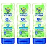 Banana Boat Sunscreen Protect and Hydrate Moisturizing Broad Spectrum Sun Care Sunscreen Lotion – SPF 30, 6 Ounce (Pack of 3)