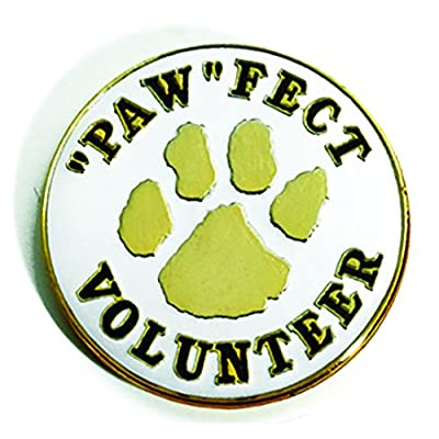"Gold Paw ""Paw""fect Volunteer Appreciation Award Lapel Pin for sale"