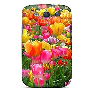New Premium SsLbikE4088pataz Case Cover For Galaxy S3/ Tulip Festival Protective Case Cover