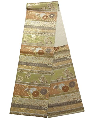 長いですスケジュールマディソンリサイクル 袋帯 正絹 六通 高台寺蒔絵横段文