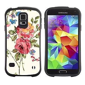 Suave TPU GEL Carcasa Funda Silicona Blando Estuche Caso de protección (para) Samsung Galaxy S5 / CECELL Phone case / / Rose Blossoms Pink Garden Art Flowers /