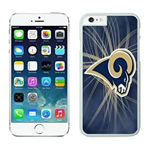 St-Louis Rams 13 iPhone 6 Plus NFL Cases White 5.5 Inches NIC13623