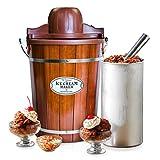 Nostalgia ICMP600WD Wood Bucket Ice Cream Maker, 6-Quart