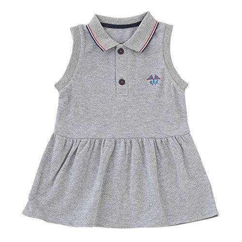 (チャックル) chuckle * ボンシュシュ * ポロシャツ風 袖なし ワンピース グレー 90cm P3224-90-00