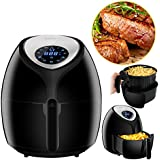 SUPER DEAL XL Hot Air Fryer Family Size 5.8 Qt. Newest Touch Screen Technology Airfryer with Recipe Books