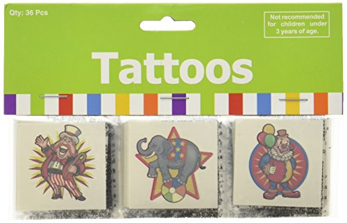 Carnival Party Tattoos (36-pack)