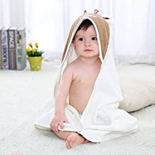 Soft Animal Face Hooded Baby Towel, Cute Cow