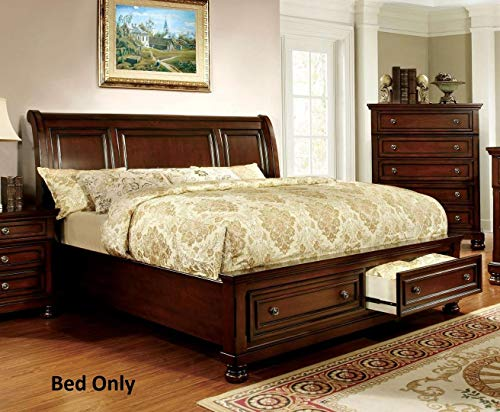 Furniture of America Northville Dark Cherry King Platform Storage Bed (Woods Northville)