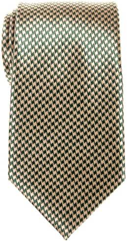 Retreez Two-Color Zig Zag Striped Woven Microfiber Men's Tie - Various Colors