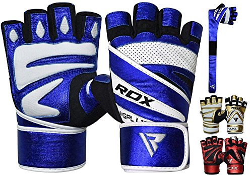 RDX Gym Weight Lifting Gloves Workout Fitness Bodybuilding Exercise Breathable Powerlifting Wrist Support Strength Training