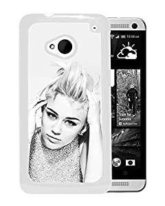 Miley Cyrus Black And White (2) Durable High Quality HTC ONE M7 Phone Case