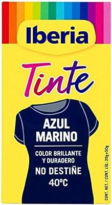 Iberia - Tinte Azul Marino para ropa, 40°C: Amazon.es: Belleza