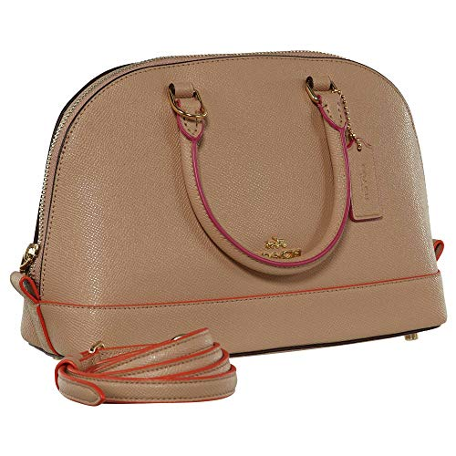 Purse Handbag Shoulder Inclined Pink Coach Women��s Multi Nude Satchel Shoulder Sierra Mini SqInA8