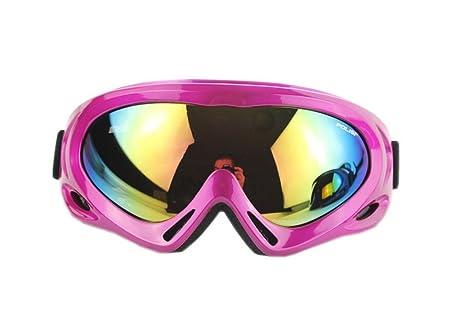 PANDA SUPERSTORE Fuchsia Ski Goggle for Women Anti Frog Snowboarding Goggle