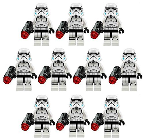10 NEW LEGO STORMTROOPER MINIFIG LOT 75078 imperial troop (New Stormtrooper)
