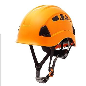XIAHE Casco De Protección Industrial De La Cueva Casco De Rescate De Trabajo Aéreo Amarillo Casco