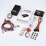 Módulo de Sonido RC Car Toy/Sistema Simulado de Luz para Grader Climbing Car SUV Control Remoto Vehículo Camión DIY Parte - Negro