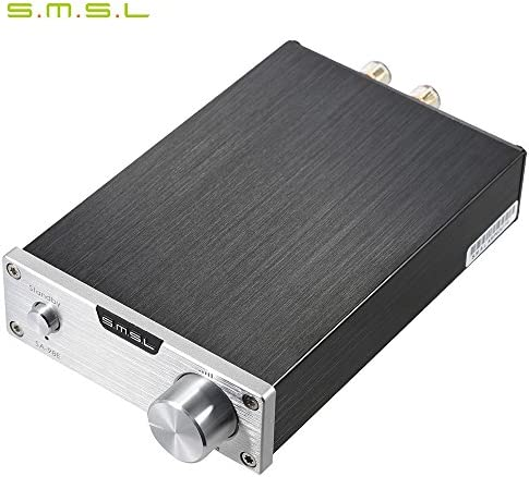 S.M.S.L SA-98E Silver 160W Stereo Digital Amplifier with Power Adapter Silver