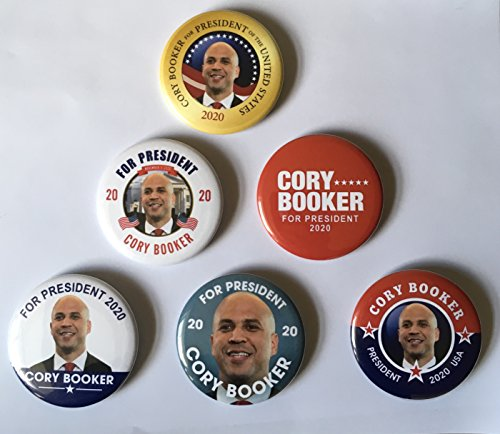 - Cory Booker for President Set of 6 Campaign Buttons (Booker-All)