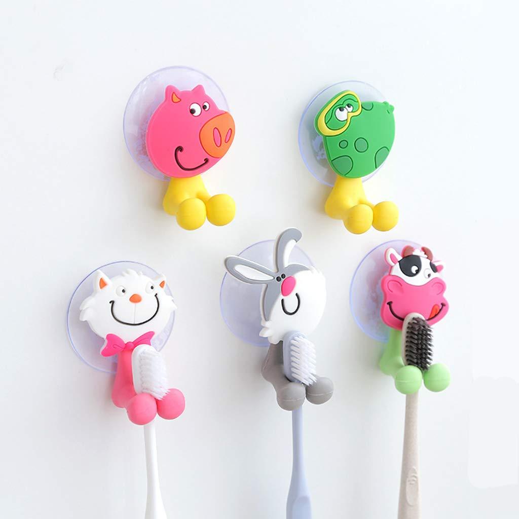 ColorJoy Portaspazzolino, portaspazzolino per Animali Svegli del Fumetto con Ventosa, Porta spazzolino Antibatterico per Bambini