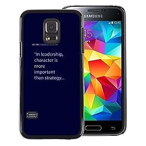 Red-Dwarf Colour Printing Leadership Character Blue Text Quote - cáscara Funda Case Caso de plástico para Samsung Galaxy S5 Mini, SM-G800, NOT S5 REGULAR!