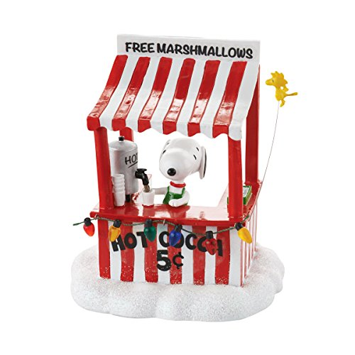 Department 56 Peanuts Village Snoopy s Cocoa Stand Accessory, 4.13 inch