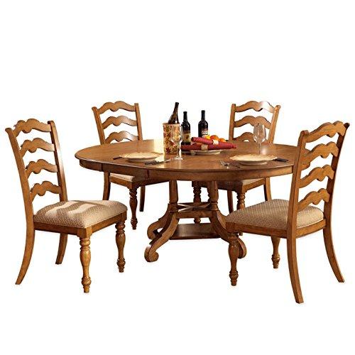 5-Piece Dining Set Round Dining Table