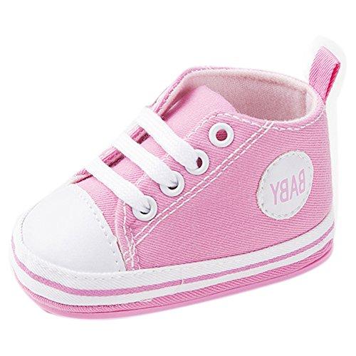 etrack-online Infant Toddler Boys Girls Lienzo zapatillas antideslizantes zapatos de exterior amarillo amarillo Talla:12-18 mes rosa