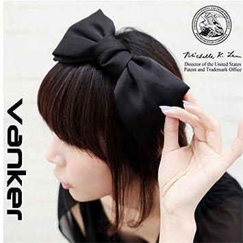 ea28c1bbf8d51d Modisch Süß Koreanisch Stil Große Schleife Stirnband Haarschmuck Schwarz