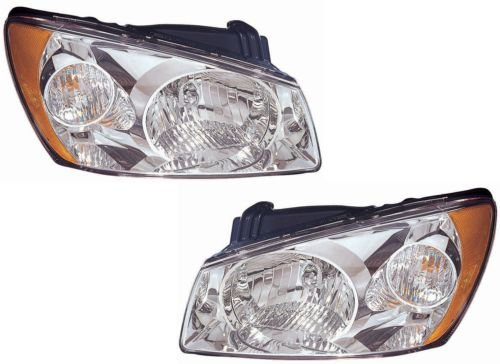 placement Headlight Assembly Chrome - 1-Pair ()