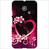 Moto E (2nd Gen) 4G Back Cover - Heart Pink Designer Cases