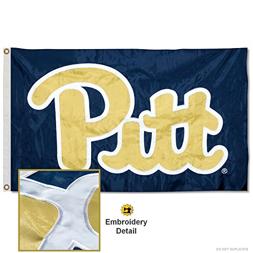 (Pittsburgh Panthers Embroidered and Stitched Nylon Flag )