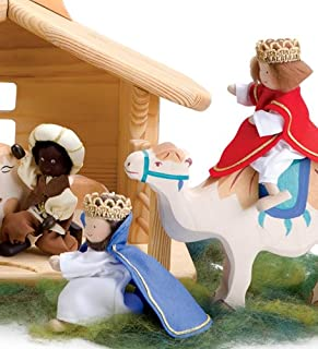product image for Magic Cabin Kathe Kruse Handcrafted Nativity Characters, Set of 3, in Three Kings