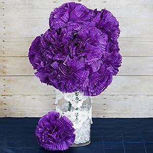 BalsaCircle 36 4 Bushes Silk Extra Large Carnations Flowers - 4 Bushes - Artificial Flowers Wedding Party Centerpieces Arrangements Supplies 81