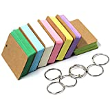 KisSealed 7 Multicolor Card Kraft Paper Study Cards Easy Flip Flash Cards with Binder Ring,350 Pieces.