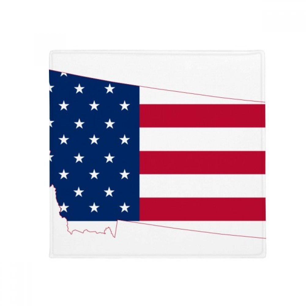DIYthinker Montana USA Map Stars Stripes Flag Shape Anti-Slip Floor Pet Mat Square Home Kitchen Door 80Cm Gift