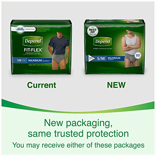 Depend FIT-FLEX Incontinence Underwear for Men, Maximum Absorbency, S/M, Gray, 60 Count by Depend (Image #8)