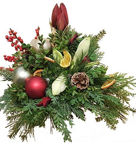 WEIHNACHTSSTRAUß   Tanne   AMARYLLIS weiß rot     Weinachtliche DEKO   Schönheit der Weihnacht  B07KDD4BGB Zierschmuck a19d4e
